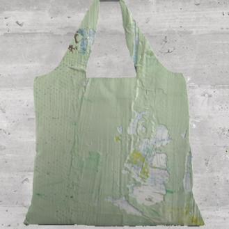 Misty Green Foldaway tote